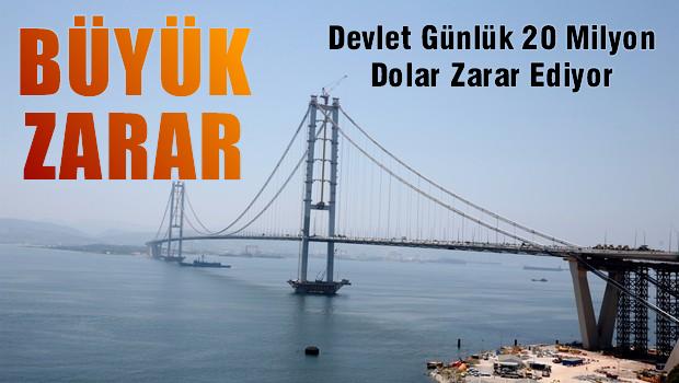 Osmangazi Köprüsü'nde büyük zarar