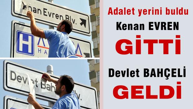 Adana'da Kenan Evren - Devlet Bahçeli kapışması