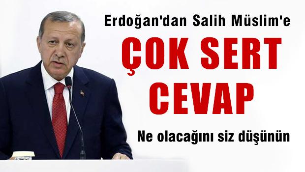 Erdoğan'dan Salih Müslim'e çok sert cevap