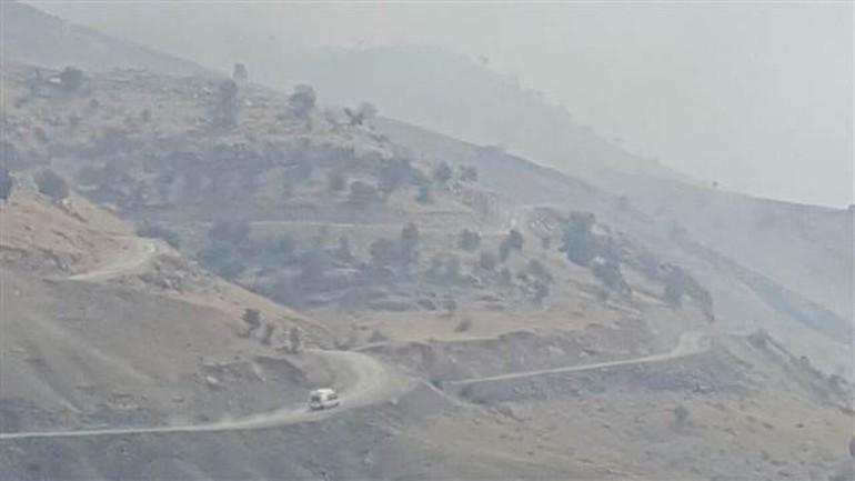 Baskına gelen PKK'lılar ağır darbe alıyor..