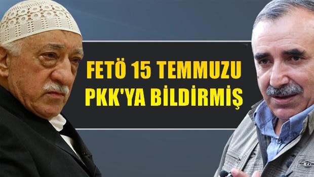 FETÖ, 15 Temmuz'u PKK'ya söylemiş