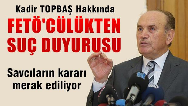 Kadir Topbaş'a Fethullahçılıktan suç duyurusu