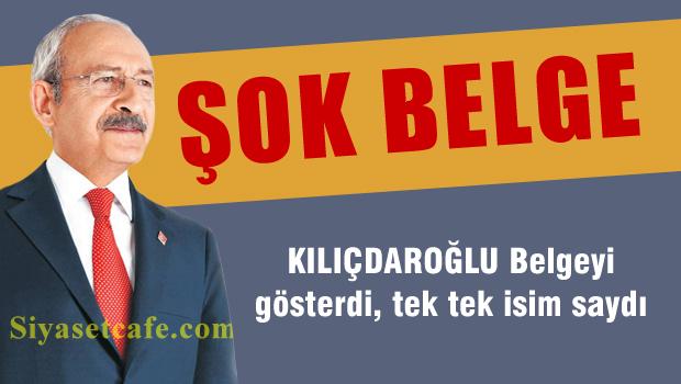 Kılıçdaroğlu belgeyi gösterdi, isimleri tek tek saydı