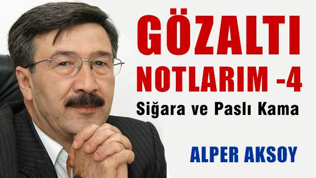 Alper AKSOY G�zalt� Notlar� 4- Si�ara ve Pasl� Kama