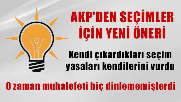 AKP'den seçimler için yeni öneri!
