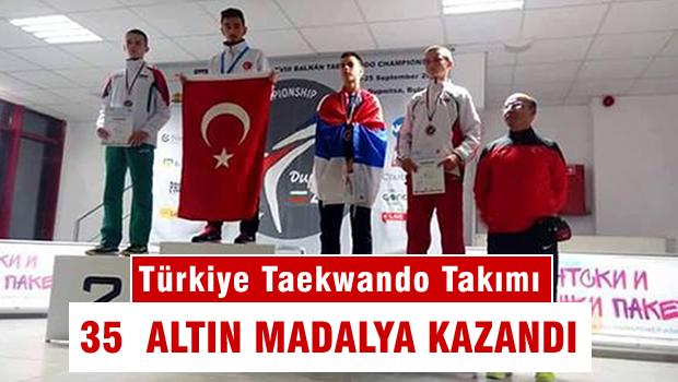 18. Balkan Taekwondo Şampiyonası'nda 35 madalya kazandı.