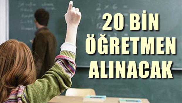 MEB '20 bin sözleşmeli öğretmen alınacak'