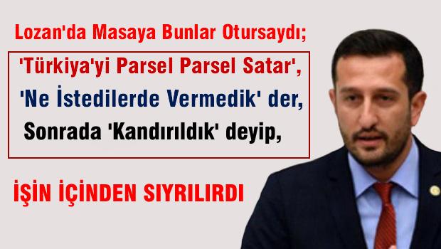 Hakverdi'den Erdoğan'a Lozan salvosu