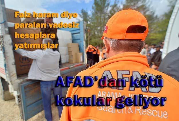 AFAD'dan kötü kokular geliyor!