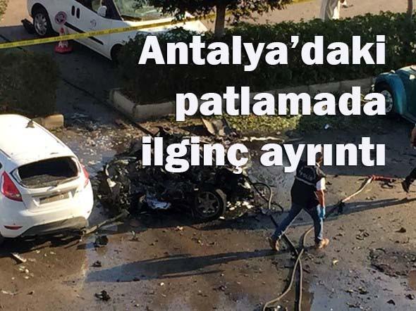 Antalya'daki patlamada ilgin� ayr�nt�