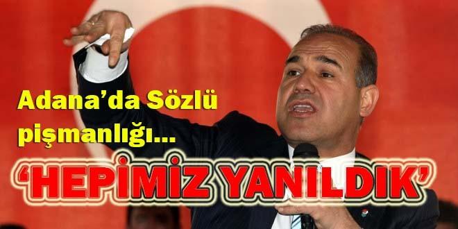 Adana'da Sözlü pişmanlığı