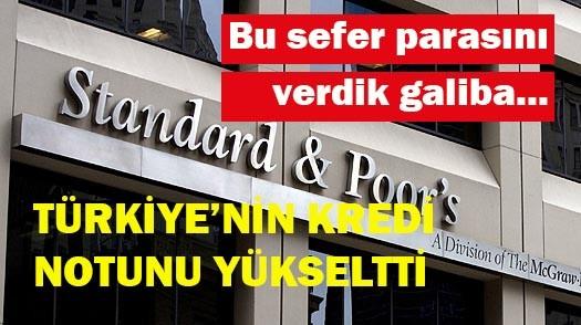 Türkiye'nin kredi notu yükseldi