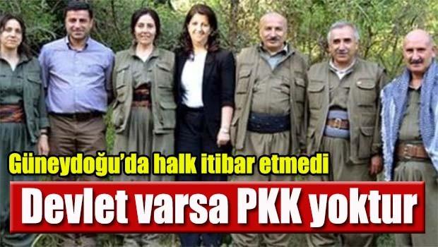 Devlet varsa PKK yoktur