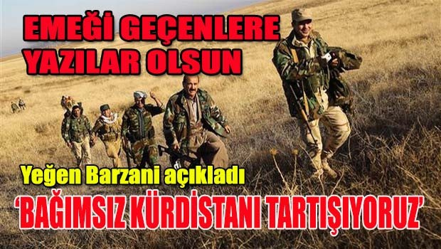 Yeğen Barzani, 'Bağımsız Kürdistanı tartışıyoruz'