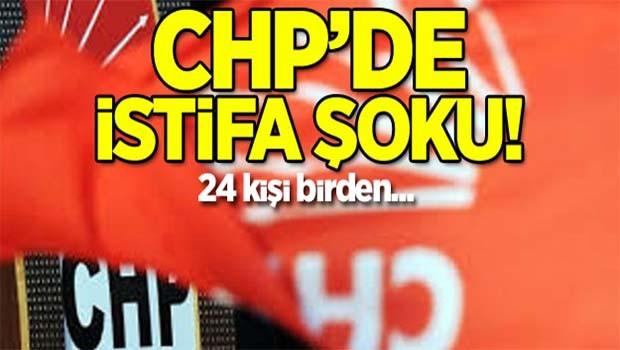CHP'de istifa şoku!