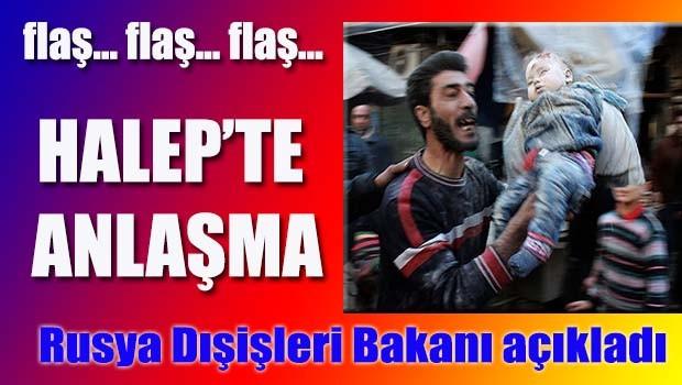 Halep'te anlaşma