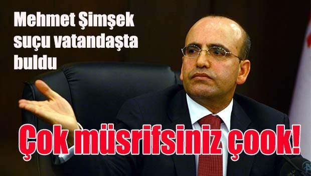 Mehmet Şimşek suçu vatandaşta buldu