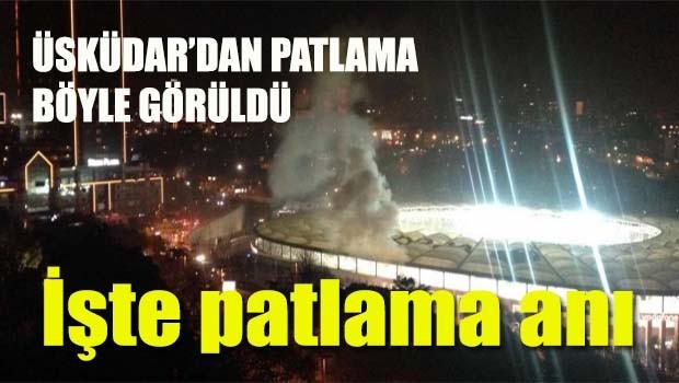 Beşiktaş'taki hain saldırının patlama anı