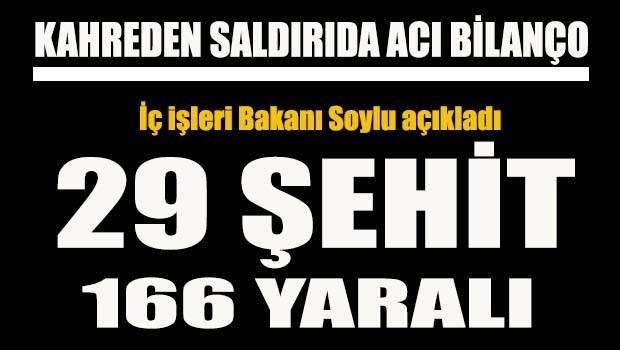 İstanbul Beşiktaş'taki patlama 29 kişi şehit oldu