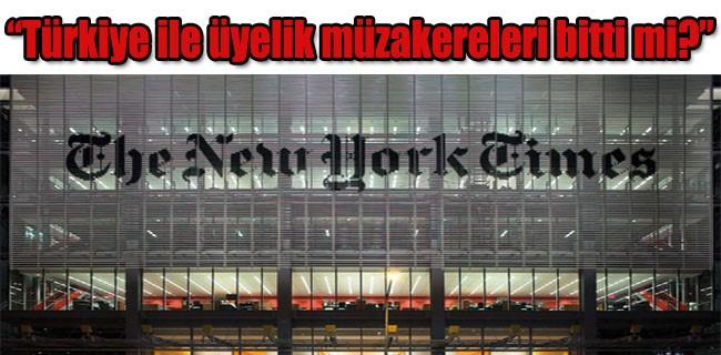 The New York Times; 'Avrupa Birliği, pürüzlü bir yıl yaşadı'