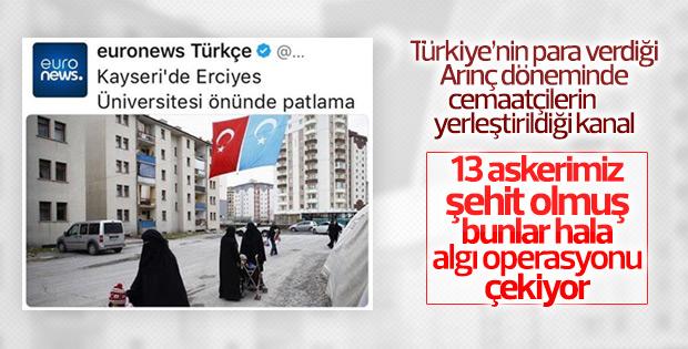 Euronews Kayseri saldırısında algı peşinde