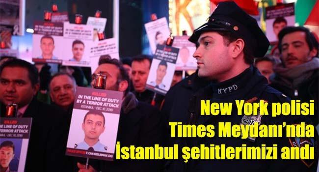 Times Meydanı'nda İstanbul saldırısı şehitleri anıldı