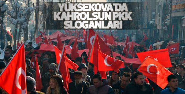 Yüksekova'da teröre inat kardeşlik yürüyüşü