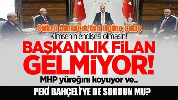 MHP'li danışmandan ilginç yazı, 'Başkanlık filan gelmiyor'