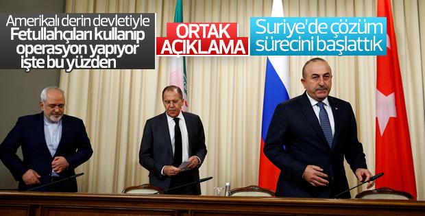Türkiye, Rusya ve İran'dan ortak Suriye kararı