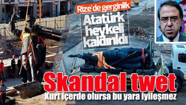 Rize'de Atatürk heykelinin kaldırılmasına büyük tepki