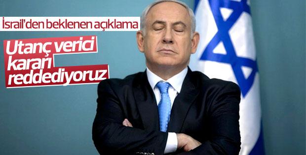 İsrail'den beklenen açıklama