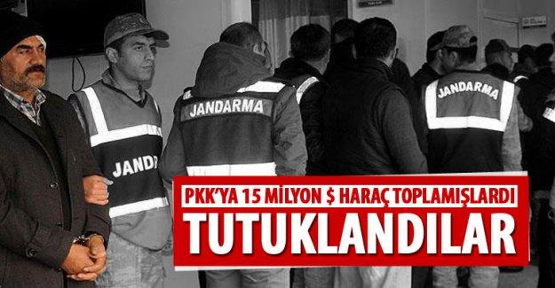 PKK için haraç toplayan yedi kişi tutuklandı