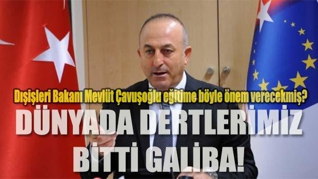 Dışişleri Bakanı Çavuşoğlu eğitim sorunumuza 'çözümü' buldu!