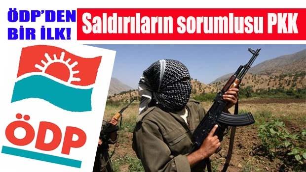 ÖDP'de bir ilk, 'Saldırların sorumlusu PKK'