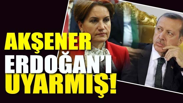 Meral Akşener Tayyip Erdoğan'ı FETÖ Konusunda uyarmış!