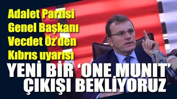 Erdoğan'dan Kıbrıs için 'van münit' talebi