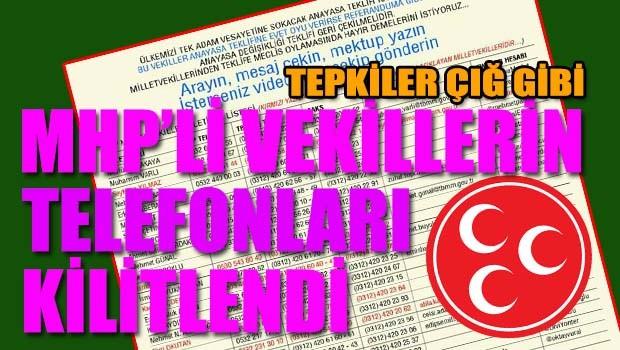 MHP'li vekillerin telefonları kilitlendi