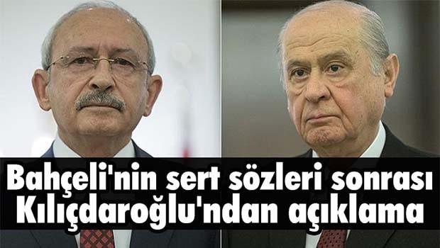 Bahçeli'nin sert sözlerine karşı Kılıçdaroğlu böyle dedi