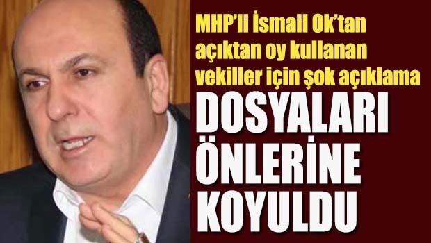 MHP'li Ok'tan çarpıcı iddia, 'Dosyaları önlerine koyuldu'