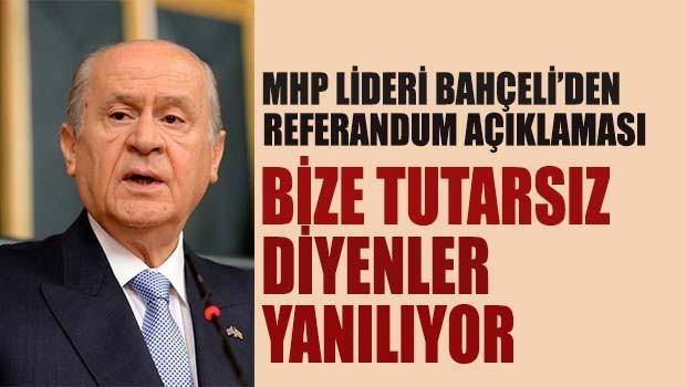 MHP Lideri Bahçeli'den referandum açıklaması