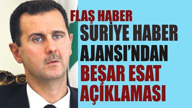 Suriye Haber Ajansı'ndan Beşat Esat açıklaması