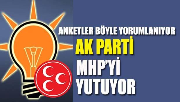 AK Parti MHP'yi yutuyor!