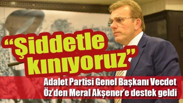 Meral Akşener'e bir destek de Adalet Partisi'nden
