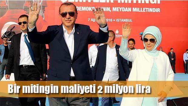 Bir mitingin maliyeti 2 milyon lira!