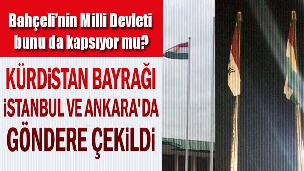 Kürdistan bayrağı İstanbul ve Ankara'da göndere çekildi