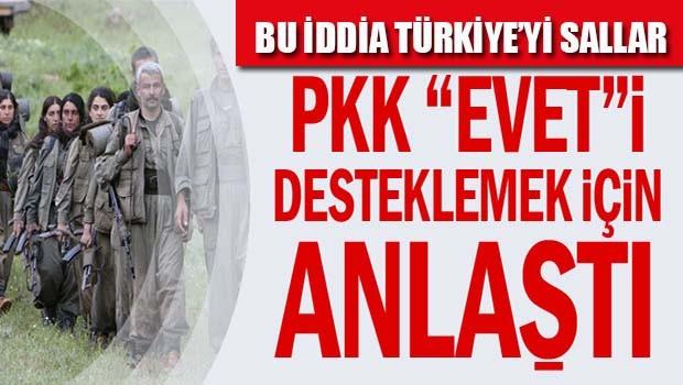 PKK 'evet'i desteklemek için anlaştı!