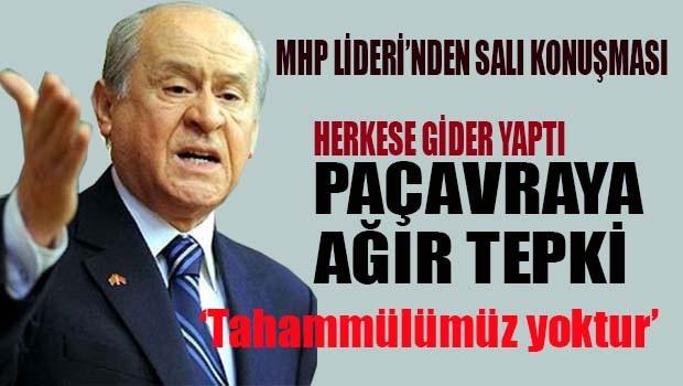 MHP Lideri Bahçeli'den Kürdistan paçavrasına ağır tepki, 'Tahammülümüz yoktur'