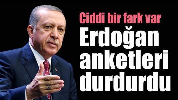 Erdoğan anketleri durdurdu