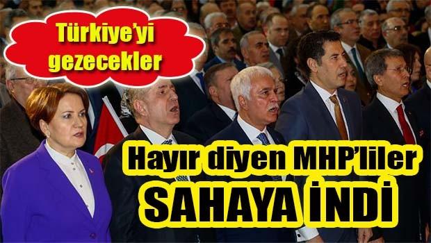 HAYIR diyen MHP'liler sahaya indi!