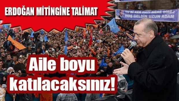 AK Partili Belediyeden miting talimatı, 'Aile boyu katılacaksınız!'